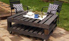 Φτιάξτε το μόνοι σας : Μοντέρνο τραπεζάκι κήπου